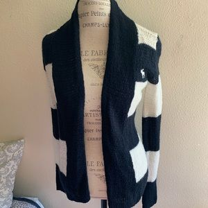 Abercrombie kids navy and white cardigan
